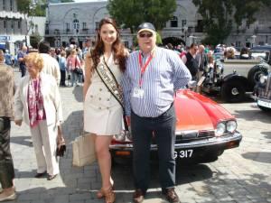 President Howard Danino with Miss Gibraltar 2012