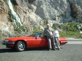 Howard and Betty Danino with their Jaguar XJS-C Sports Convertible