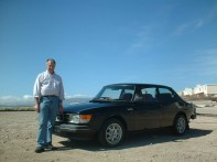 Neil Hall with his Saab Turbo