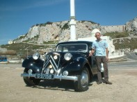 Christian DeBono with his Citroën Traction Avant 11B