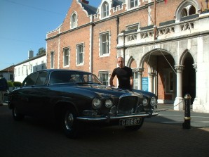 Christian DeBono with his Jaguar Mk10