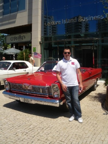 Michael Reeve and his Ford Galaxy Convertible