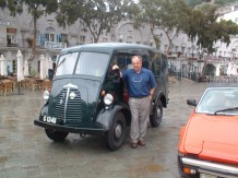 The late John Ritchie and his Morris J-Type van