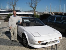 Manolo Frendo and his Toyota MR2