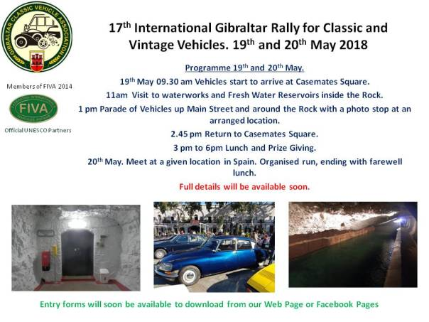 17th International Gibraltar Rally for Classic and Vintage